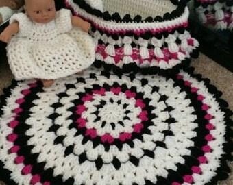 Small Crochet Baby Cradle Purse PATTERN