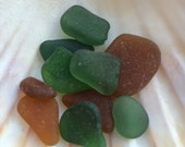 Sea glass- A mix of brown and green chips all smooth and well tumbled. Versatile. From Scottish Beaches