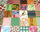 Grandma's Garden - Fabric Squares - Thirty 5x5 inch charm squares