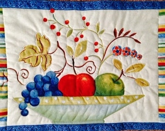 4 Fruit Striped Placemats