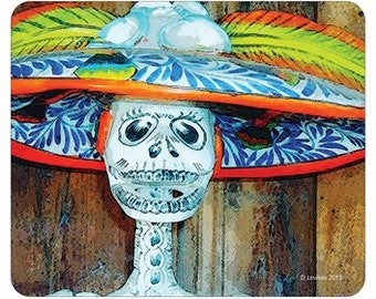 MOUSE PAD with Day of the Dead Catrina  original photopainted art image