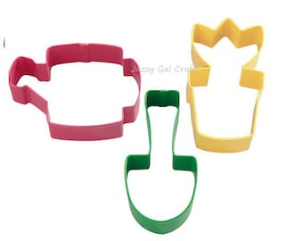 Wilton 3 piece Gardening Cookie Cutter Set