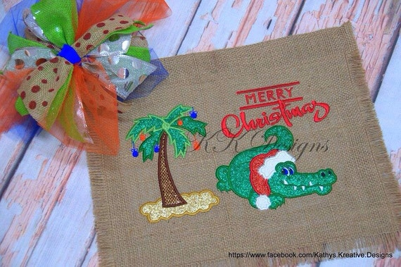 christmas palm tree applique christmas in july design