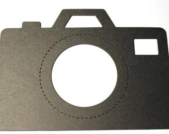 8 Large Vintage Die Cut Cameras