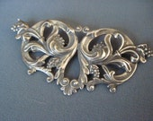 Victorian Art Nouveau Silver-plated Brooch