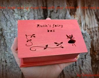 music box, custom made music box, musical jewelry box, birthday gift, musicbox, fairy box, wooden music box