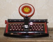 Marx Junior Dial Toy Typewriter Vintage Tin Litho Collectible Made In NYC