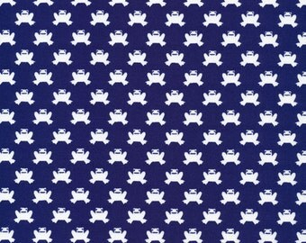 SALE--ORGANIC Lotus Pond--Hopping Along--Navy--Rae Hoekstra--Certified Organic Cotton--price is per yard