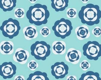 SALE--Eleanor Grosch--Imperial Pheasant--Peonies--Blue--price is per yard