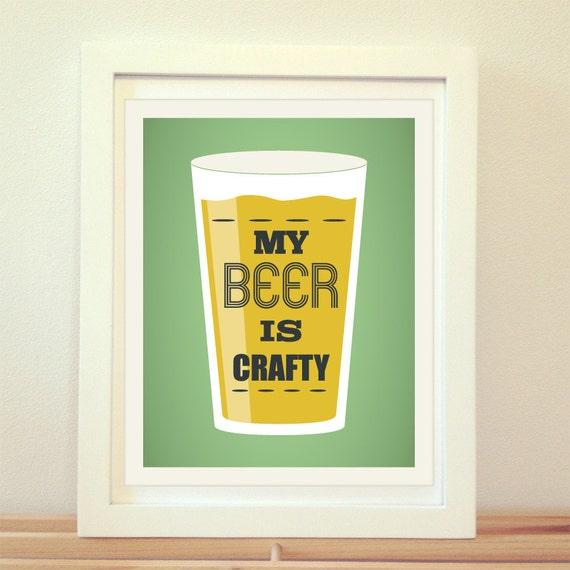 My Beer Crafty Beer Print Beer Art Craft Beer Home Decor