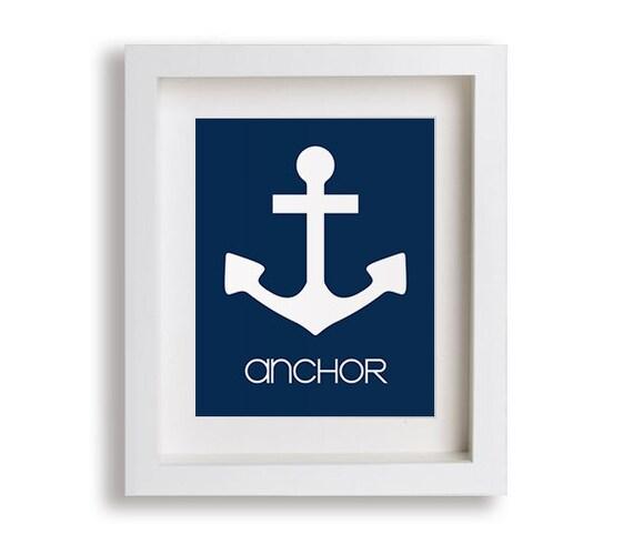 Anchor Nursery Art Print - Modern Nursery Decor, Nautical Nursery, Kids Decor, Baby Boy Nursery, Playroom, Nautical Decor, Toddler, Framed