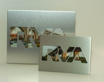 RVA Silver Photo Frame,  Richmond Va Landscape Picture Frame, Framed Photography