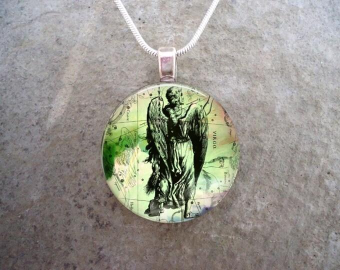 Virgo Jewelry - Glass Pendant Necklace - Victorian Horoscope - RETIRING 2017