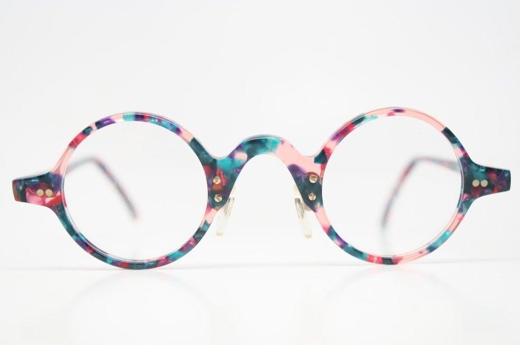 Unusual Designer Eyeglass Frames : Unique Vintage Glasses Frames 1980s vintage eyewear NOS