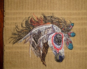 Painted Horse Kitchen Dish Bath Hand Towel