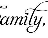 """Faith, Family, Friends - 50"""" wall decal"""