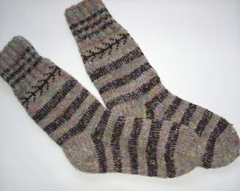 Hand Knitted Wool Socks For Men-Colorful Wool Socks-Size Large US 13,EU47