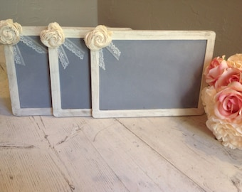 Shabby Chalkboards- Set of 3 by Burlap and Linen Co