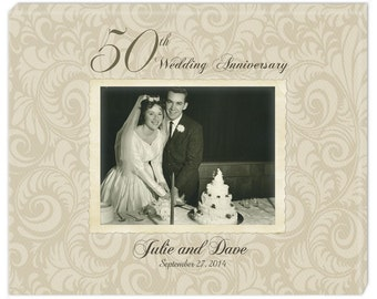 Personalized 50th Anniversary Photo Canvas