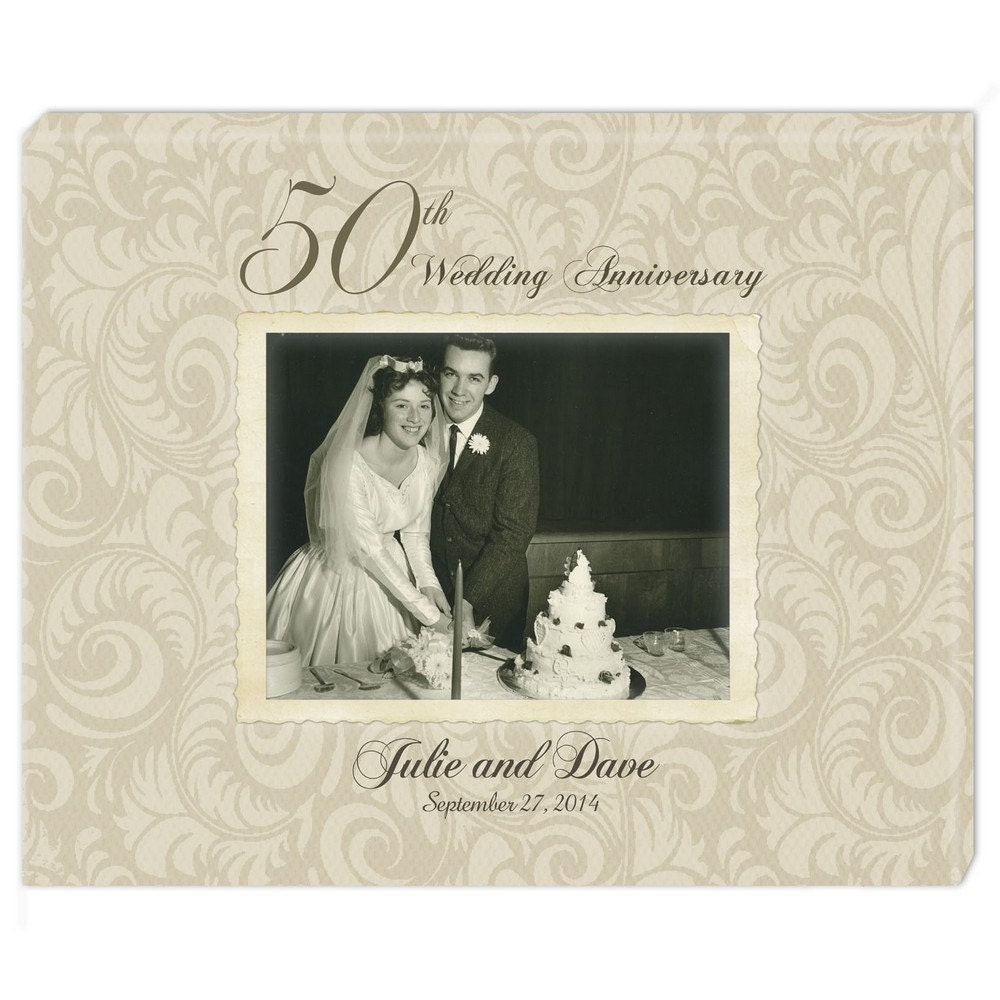 Personalised 50th Wedding Anniversary Gifts: Personalized 50th Anniversary Photo Canvas