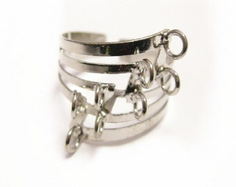 4 pc platinum look with Loop Ring Base-8678