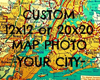 Custom Map Art, Personalized Gift for Men, Husband Christmas Gift, Personalized Dad Gifts, Dad Gifts from Daughter, Husband Anniversary Gift