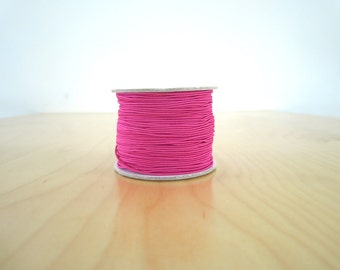 Elastic cord - fushia pink - 1 mm x 2 meters