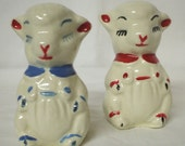 Shawnee Pottery Lamb Salt and Pepper Shakers