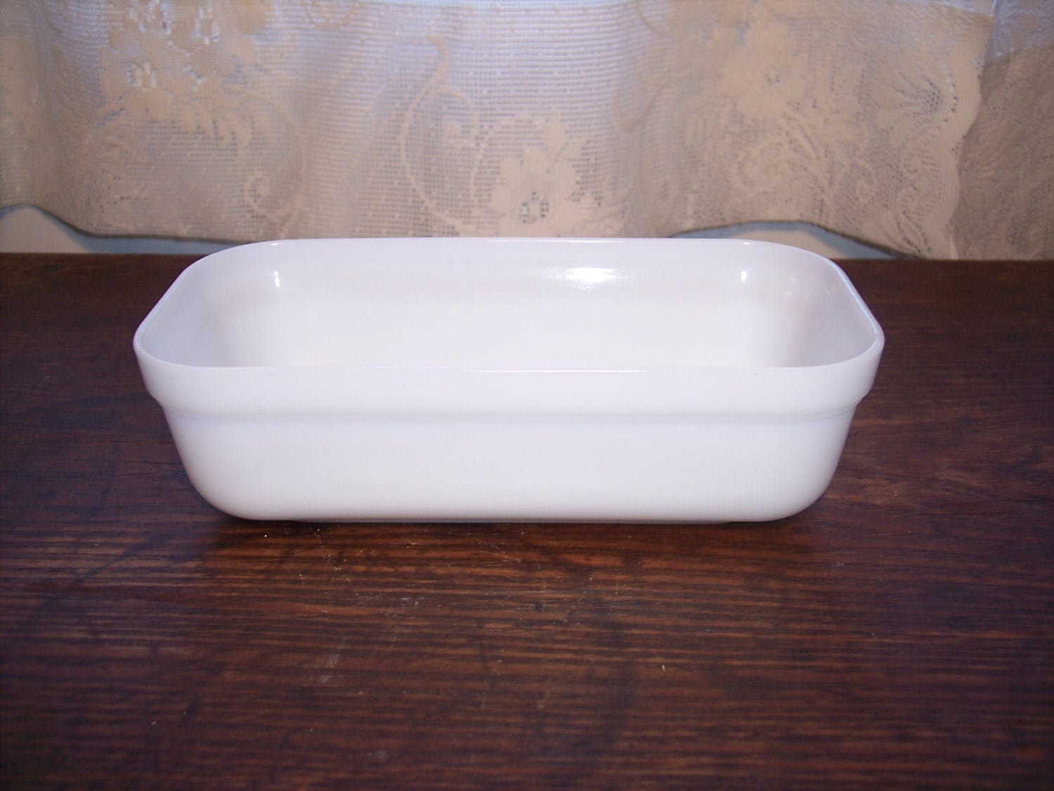 Vintage Fire King Oven Ware Refrigerator Dish Loaf Pan White