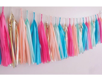 Summer Brights Tassel Garland