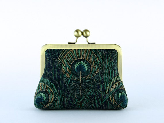 EllenVINTAGE Liberty Peacock Clutch