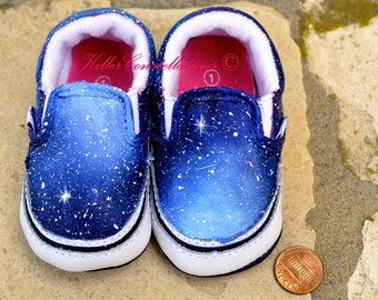 Custom Painted Baby Galaxy Vans Shoes