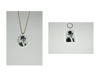 Fred Astaire Glass Pendant Necklace and/ or Keychain