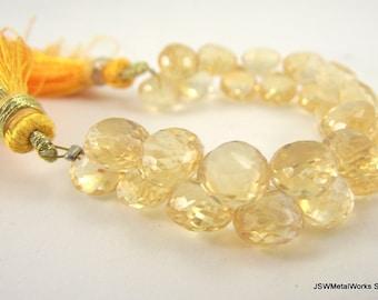 Golden Citrine Faceted Teardrop, Citrine Teardrop Bead, 8 x 6 mm - 9 x 8 mm, Luxe Beads