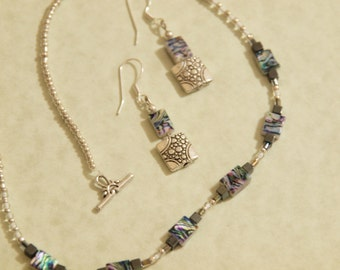 Art Deco Necklace and Earring set