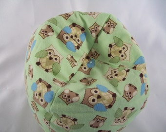 Doll Furniture Light Green Cozy Flannel Bean Bag Chair