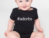 Hashtag Adorbs Cotton Baby One Piece Bodysuit - #Adorbs Infant Girl and Boy