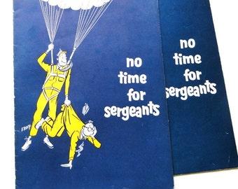 "Vintage Musical Theatre Program, ""No Time For Sergeants"", Ford's Theatre, 1960's, Ephemera,"