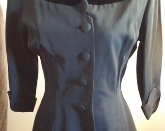 GORGEOUS 1950s suit jacket with velvet detail