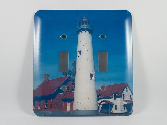 Sale light switch cover tawas point lighthouse design home for Lighthouse switch plates