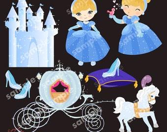 The Cinder Girl Clip Art Set