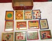 Vintage Set Of 12 R. Journet & Co. Dexterity Puzzles