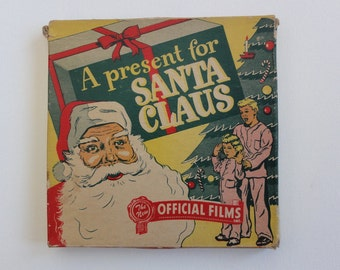 """1947 8mm Movie in Original Box """"A Present For Santa Claus"""", no. 450, Official Films, Christmas, Collectible #"""
