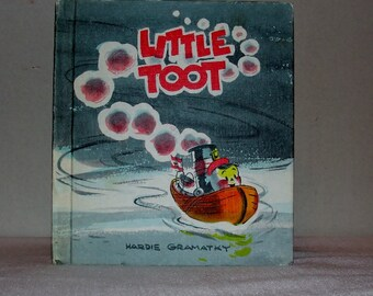 "Vintage Book ""Little Toot"" by Hardie Gramatky Childrens Hardbound Story Book"