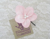 Pale Pink Flower Hair Pin. Pale Pink Flower Hair Piece. Bridesmaid Hair Accessory.