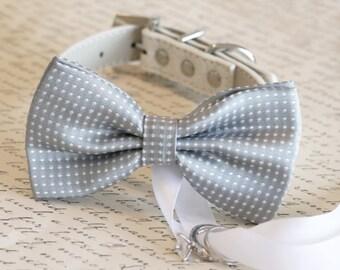 Gray Dog Bow Tie, Dog ring bearer, Pet Wedding accessory, Gray wedding accessory,Proposal idea, Cute