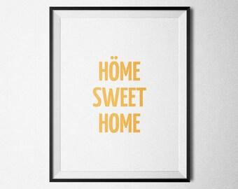 Höme Sweet Home Letterpress Print - 8.5x11