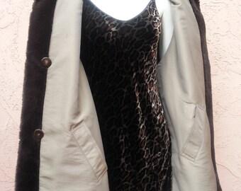 Coco Reversible Fur Coat Jacket Vintage