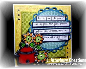 Scripture Card---Fruit of the Spirit Card + Matching Envelope Box