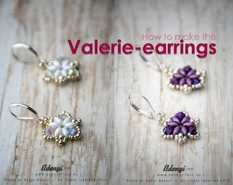 Valerie earrings - Phase photo TUTORIAL